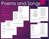 8 Poems Poetry, Assessment, Sub Plans, Independent, Groups