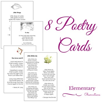 8 Poetry Cards
