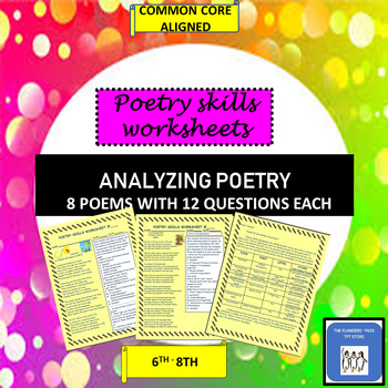 8 Poetry Skills Worksheets for Middle School