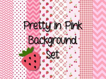 8 Pretty in Pink Backgrounds: Valentine's Day or any time!