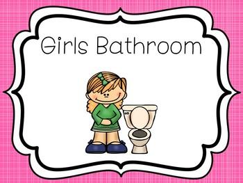8 Printable Bathroom And Handwashing Posters Girls Boys Bathroom