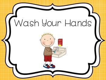 8 Printable Bathroom and Handwashing Posters. Girls/Boys Bathroom Signs. Health