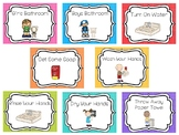 8 Printable Bathroom and Handwashing Posters. Girls/Boys B