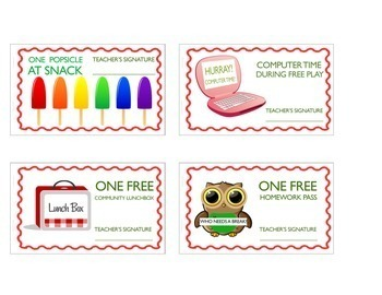 Classroom Rewards 8 Printable Passes/Coupons (Bundle) (Grades K-4)