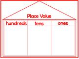 8 Printable Place Value Work Mats. Kindergarten-1st Grade Math.