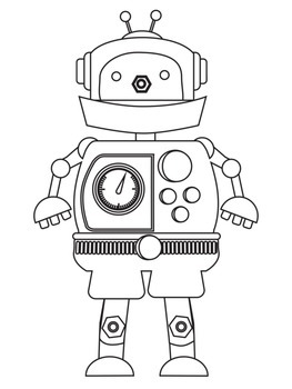 photograph relating to Printable Robot identified as 8 Printable Robotic Coloring Sheets Internet pages