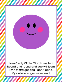 8 Printable Shapes Posters with Shape Poems  Preschool Shapes