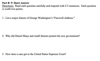 8 Quizzes for U.S. History