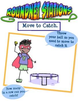 8 Round Net Station Cards aka Spikeball