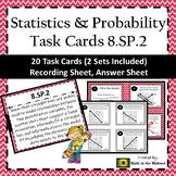 8.SP.2 Task Cards, Line of Best Fit, Analyzing a Scatterplot