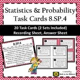 8.SP.4 Task Cards, Two Way Frequency Tables