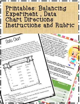 8 Science Fair Data Chart PowerPoint Lesson with Experiment, Directions & Rubric