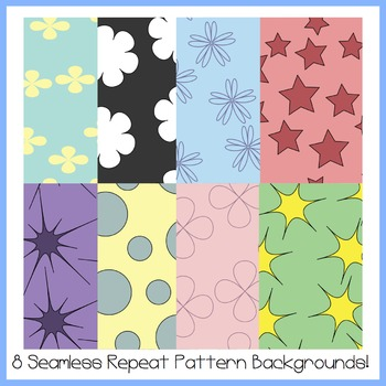 8 Seamless Repeat Pattern Background Tiles