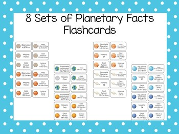 photo regarding Printable Pictures of Planets called 8 Sets of Printable Planetary Information and facts Flashcards. Astronomy