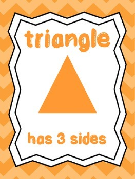 8  Shapes Posters/Anchor Charts for your Classroom. Preschool-5th Grade.