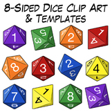 8-Sided Dice Clip Art & Templates