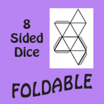 8 Sided Dice Foldable Graphic Organizer