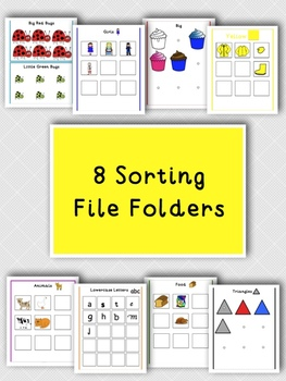 8 Sorting File Folder for Kids with Autism