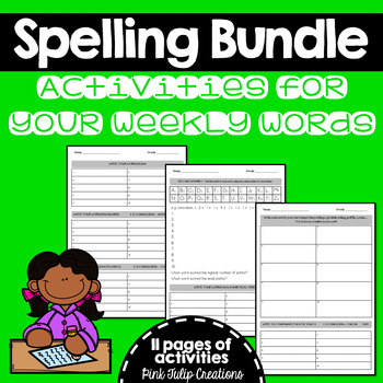 Various Spelling Activities & Tasks to Help Students Learn Their Words.