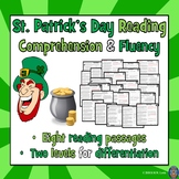 8 St. Patrick's Day Reading Comprehension Passages and Questions FICTION