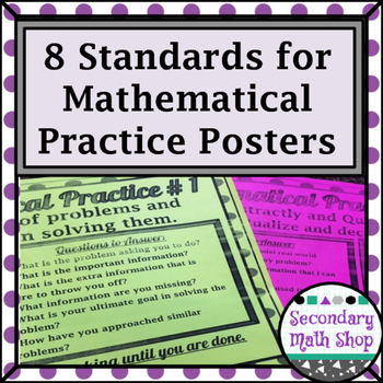 8 Standards for Mathematical Practices Posters - Secondary