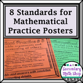 8 Standards for Mathematical Practices Posters - Secondary Lvl. Simply Gray