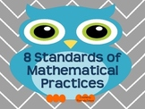 8 Standards of Mathematical Practices Posters (Owl Theme)
