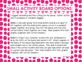 8 Standards of Mathematical Practices Sorting Activity