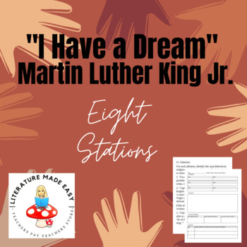 "8 Stations for ""I Have a Dream"" by Martin Luther King Jr. - common core skills"