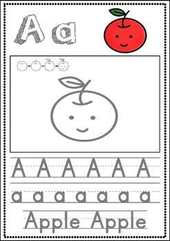 8 Steps Alphabet note (Food ABC order)