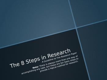 8 Steps of Research