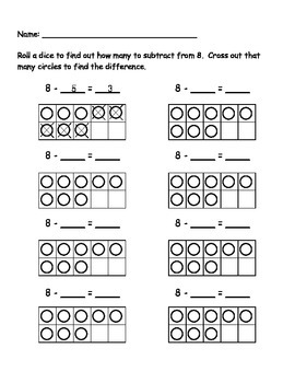 8 Subtraction Roll