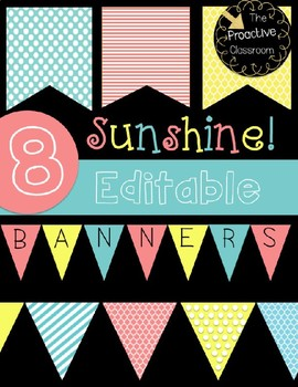 8 Sunshine Editable Banners