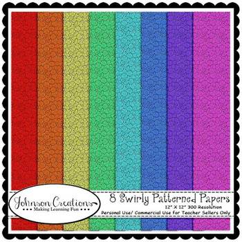 8 Swirly Patterned Papers