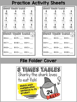 8 TIMES TABLES CENTER ACTIVITY: MULTIPLICATION