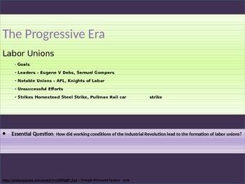 8. The Progressive Era - Lesson 1 of 7 - Labor Unions