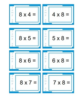 'MULTIPLICATION GAME' - Eight Times Table - A Fun Playground Game