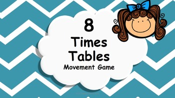 Multiplication 8 Times Tables Game / Brain Break
