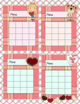 8 Valentine Reward Charts