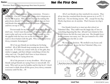 8 Valentine's Day Reading Comprehension Passages and Questions + Fluency