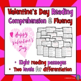 8 Valentine's Day Reading Comprehension Passages and Quest