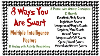 8 Ways You Are Smart - Multiple Intelligences Posters (2 Sets)