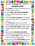 8 Ways to Prepare for Kindergarten