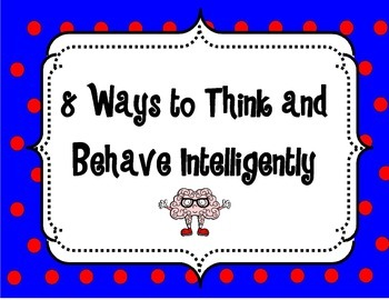 8 Ways to Think and Behave Intelligently Poster