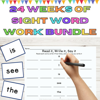 24 Weeks of Sight Word and High Frequency Word Work Bundle