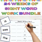 Sight Word Work 24 Weeks of High Frequency Words Work Bundle