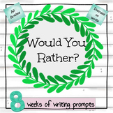 8 Weeks of Writing Prompts
