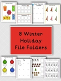 8 Winter Holiday File Folders for Kids with Autism