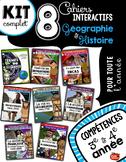 8 cahiers interactifs en Géographie et Histoire