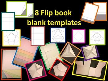 8 flip book blank templates